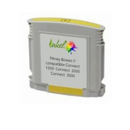 Cartouche Pitney Bowes ® encre jaune compatible Connect+ 1000 / Connect+ 2000 / Connect+ 3000
