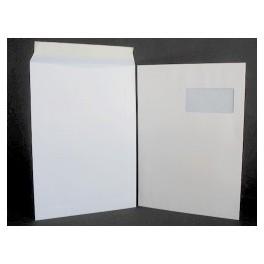 Type C4 - Format 229x324 Blanc avec fenêtre 100X50