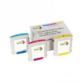 Cartouche Pitney Bowes ® pack 3 couleurs (cyan, magenta, jaune) compatible Connect+ 1000 / Connect+ 2000 / Connect+ 3000